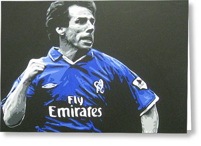 Zola Greeting Cards - Gianfranco Zola - Chelsea Fc Greeting Card by Geo Thomson