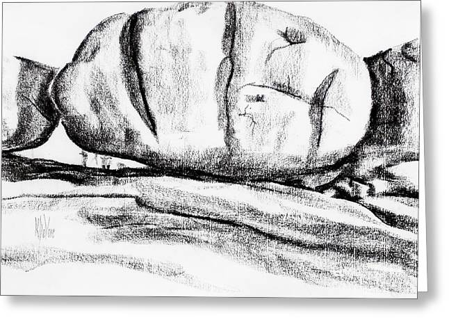 Rocks Drawings Greeting Cards - Giant Baked Potato at Elephant Rocks State Park Greeting Card by Kip DeVore