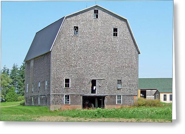 Maine Farms Greeting Cards - Giant Barn Greeting Card by William Tasker