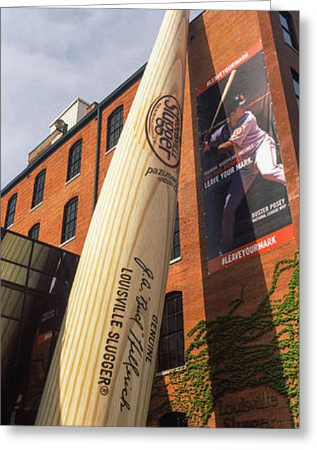 Giant Baseball Bat Adorns Greeting Card by Panoramic Images