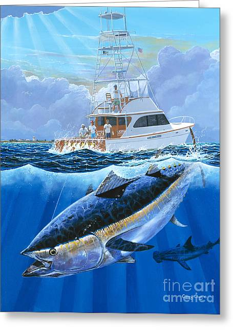 Giant Bluefin Off00130 Greeting Card by Carey Chen