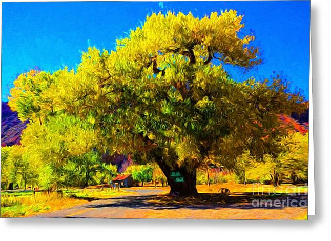 Castleton Greeting Cards - Giant Castleton Cottonwood Tree - Utah Greeting Card by Gary Whitton