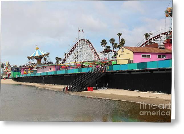 Santa Cruz Ca Greeting Cards - Giant Dipper At The Santa Cruz Beach Boardwalk California 5D23704 Greeting Card by Wingsdomain Art and Photography