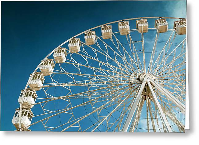 Rotation Photographs Greeting Cards - Giant Ferris Wheel Greeting Card by Carlos Caetano