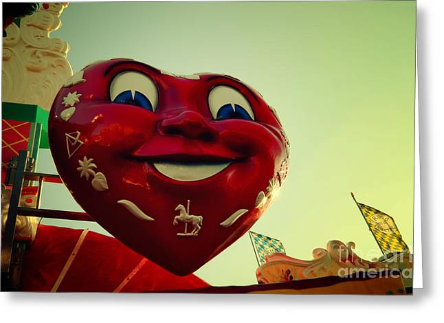 Muenchen Greeting Cards - Giant Heart at the Octoberfest in Munich Greeting Card by Sabine Jacobs