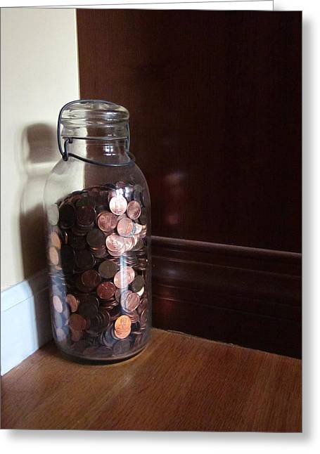 Guy Ricketts Photography And Art Greeting Cards - Giant Jar of Lincolns Greeting Card by Guy Ricketts