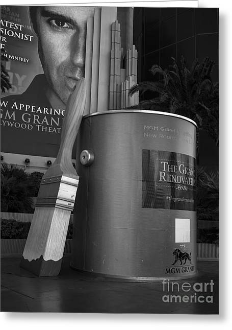Mgm Greeting Cards - Giant Paint Bucket Las Vegas 2013 Greeting Card by Edward Fielding
