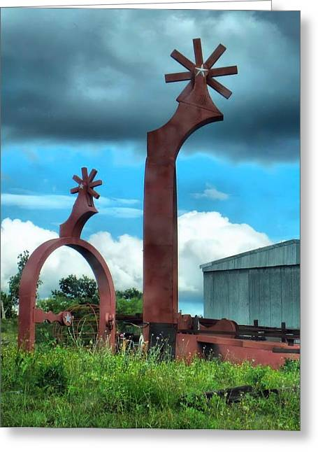 Giant Spurs Greeting Card by Dan Sproul
