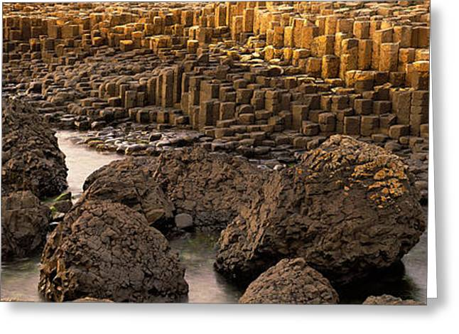 Geologic Greeting Cards - Giants Causeway, Antrim Coast, Northern Greeting Card by Panoramic Images
