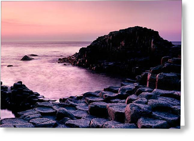 Stepping Stones Greeting Cards - Giants Causeway Greeting Card by Rod McLean