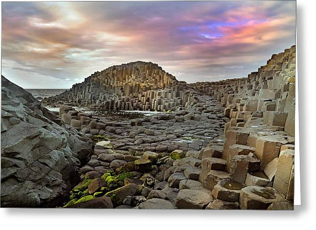 Giant's Causeway Spiritual Greeting Card by Betsy Knapp