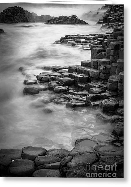 Giant's Causeway Waves  Greeting Card by Inge Johnsson