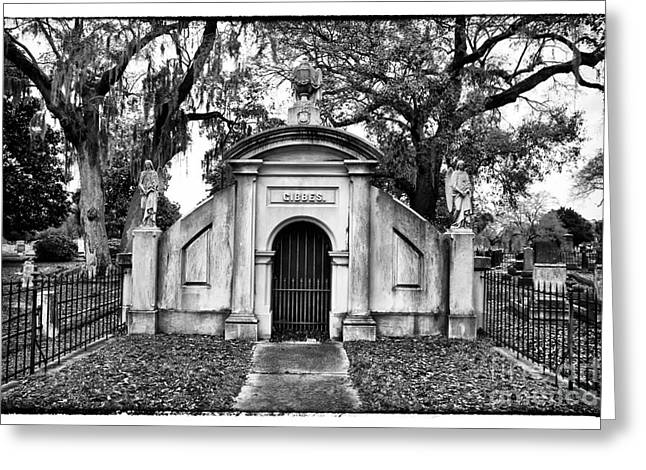 Historic Cemetery Greeting Cards - Gibbes Greeting Card by John Rizzuto