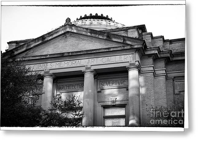 Southern Design Greeting Cards - Gibbes Memorial Art Gallery Greeting Card by John Rizzuto