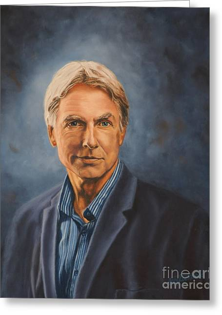 Mark Harmon Greeting Cards - Gibbs Greeting Card by Guy C Lockwood
