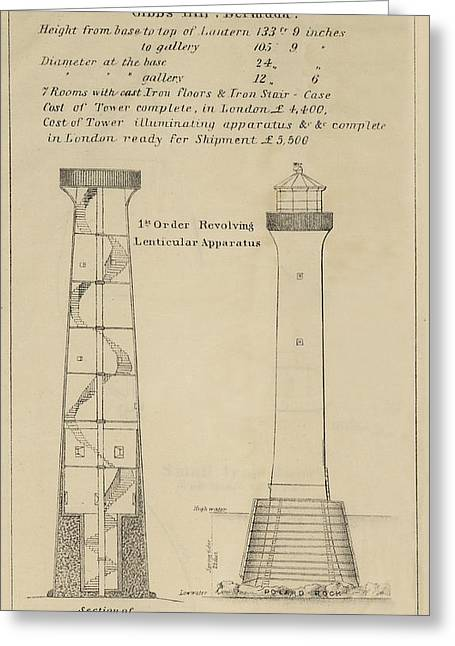 Iron Drawings Greeting Cards - Gibbs Hill Lighthouse Greeting Card by Jerry McElroy - Public Domain Image