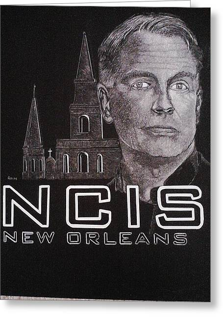 Mark Harmon Greeting Cards - Gibbs Greeting Card by Jackie Wilson