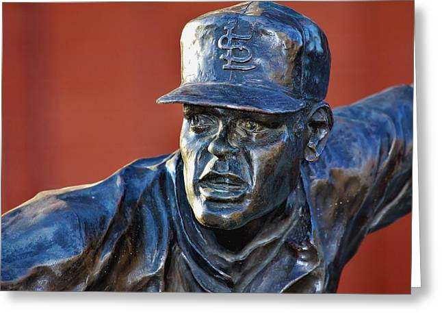 Bob Gibson Greeting Cards - Gibby Greeting Card by Christopher Miles Carter