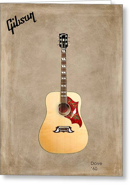 Rock N Roll Greeting Cards - Gibson Dove 1960 Greeting Card by Mark Rogan
