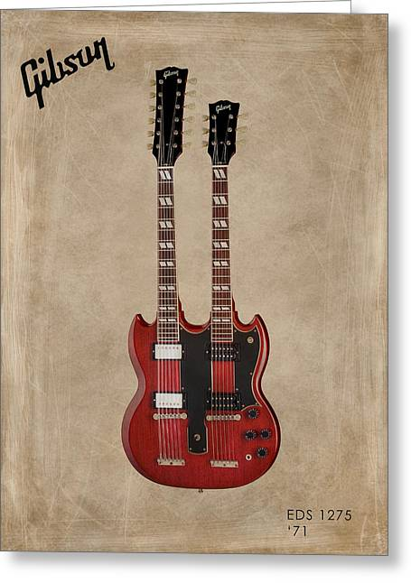 Rock N Roll Photographs Greeting Cards - Gibson EDS 1275 Greeting Card by Mark Rogan