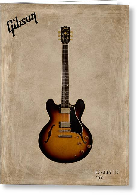 Gibson Greeting Cards - Gibson ES 335 1959 Greeting Card by Mark Rogan