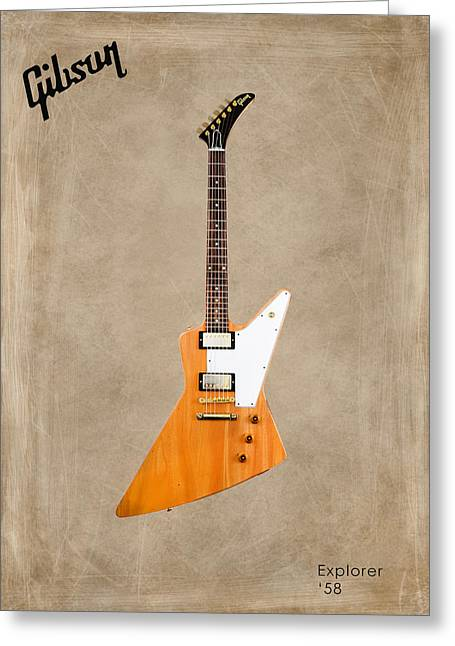 Rock N Roll Greeting Cards - Gibson Explorer 1958 Greeting Card by Mark Rogan