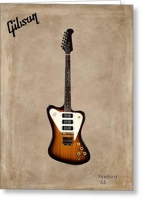 Rock N Roll Photographs Greeting Cards - Gibson Firebird 1965 Greeting Card by Mark Rogan