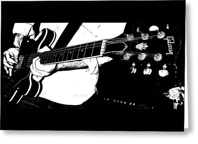 Gibson Guitar Graphic Greeting Card by Chris Berry