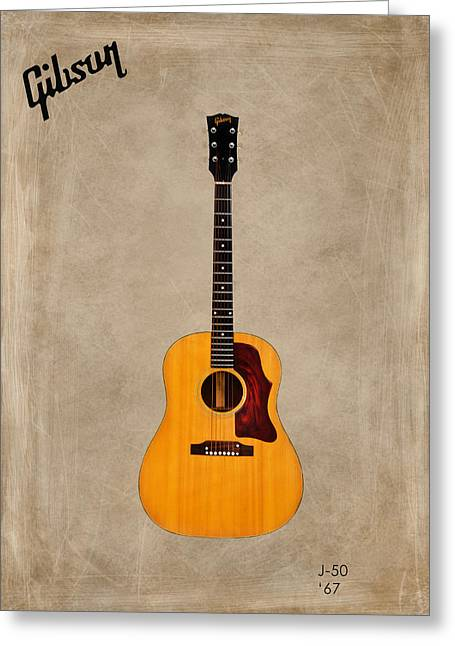 Rock N Roll Greeting Cards - Gibson J-50 1967 Greeting Card by Mark Rogan