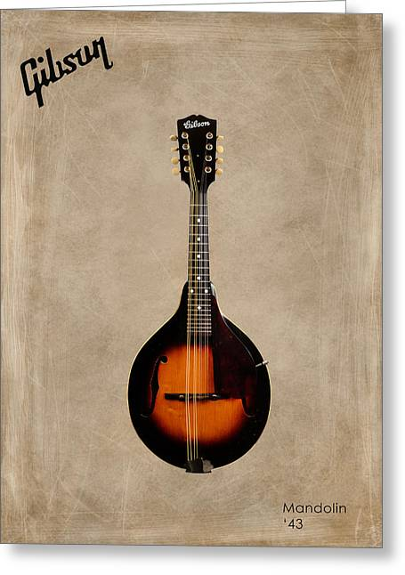 Mandolin Greeting Cards - Gibson Mandolin 43 Greeting Card by Mark Rogan