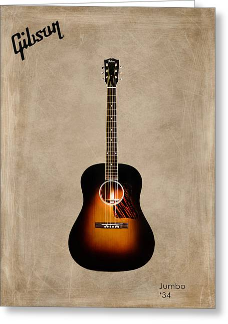 Rock N Roll Photographs Greeting Cards - Gibson Original Jumbo 1934 Greeting Card by Mark Rogan