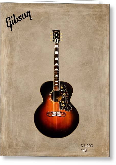 Rock N Roll Greeting Cards - Gibson SJ-200 1948 Greeting Card by Mark Rogan