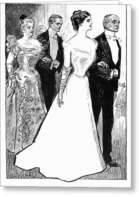 Escort Girl Greeting Cards - Gibson: The Debutante, 1899 Greeting Card by Granger