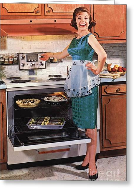 Leaflets Greeting Cards - Gibson Ultra 600 1950s Usa Cooking Greeting Card by The Advertising Archives