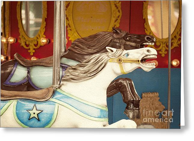 Amusements Greeting Cards - Giddy Up Greeting Card by Juli Scalzi