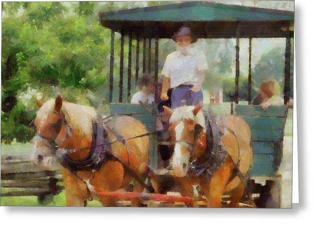 Country Dirt Roads Mixed Media Greeting Cards - Giddyup Greeting Card by Dan Sproul