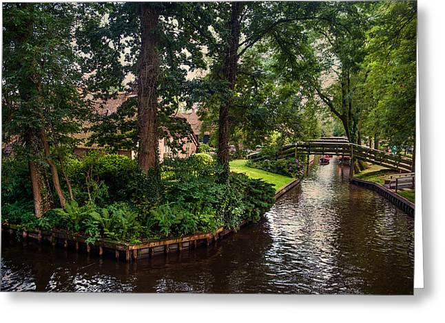 The North Greeting Cards - Giethoorn Greenery and Bridges. Venice of the North Greeting Card by Jenny Rainbow