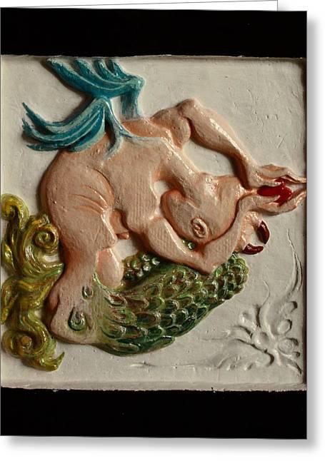 Winged Reliefs Greeting Cards - Gift Greeting Card by Anastasiya Verbik