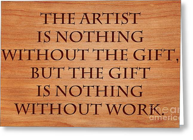 Without Action Greeting Cards - Gift and Work of Artist Greeting Card by Sari ONeal