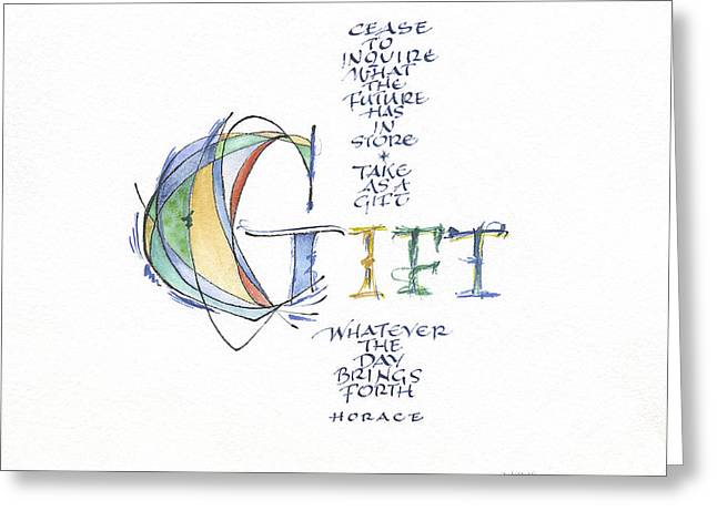 Adjectives Greeting Cards - Gift B Greeting Card by Judy Dodds