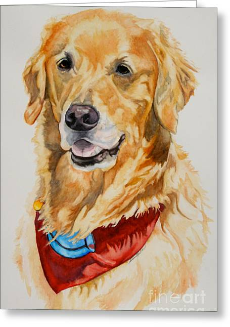 Pet Therapy Greeting Cards - Gift Of Gold Greeting Card by Susan Herber