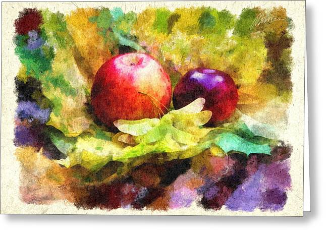 Gifts Of Autumn Greeting Card by Marina Likholat
