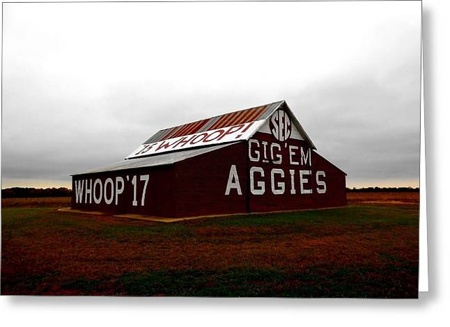 Sec Greeting Cards - GigEm Aggies Barn Greeting Card by William  Bennett
