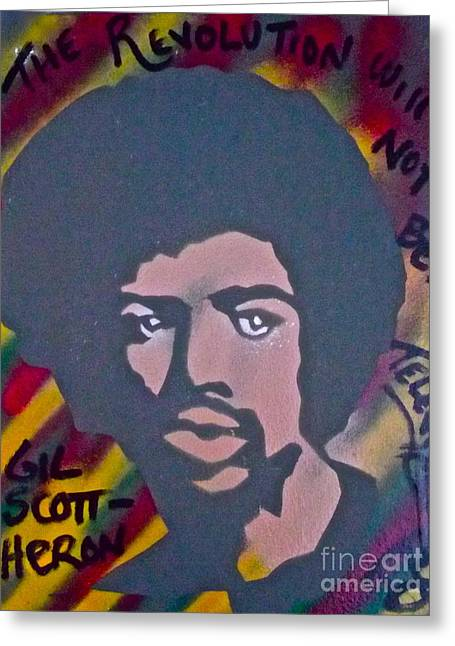 99 Percent Greeting Cards - Gil Scott-Heron 2 Greeting Card by Tony B Conscious