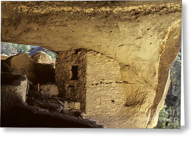 Ancient People Greeting Cards - Gila Cliff Dwelling New Mexico Greeting Card by Bob Christopher
