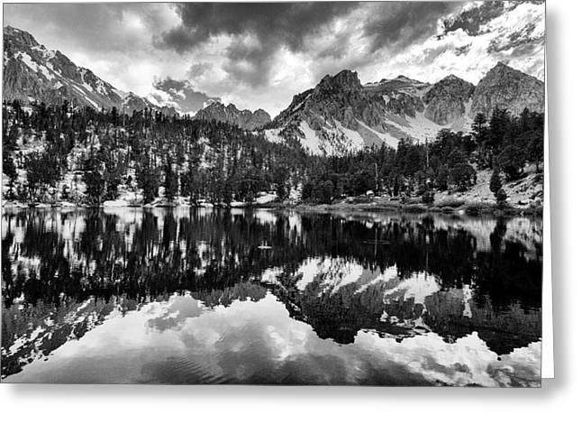 Backcountry Greeting Cards - Gilbert Lake and University Peak Greeting Card by Cat Connor