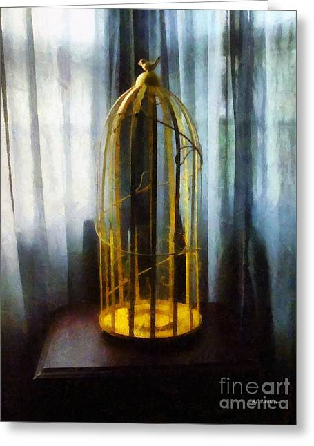 Gilded Cage Greeting Card by RC deWinter