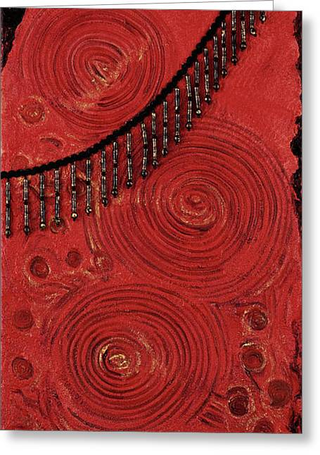 Gesso Greeting Cards - Gilded Passions Greeting Card by Darice Machel McGuire