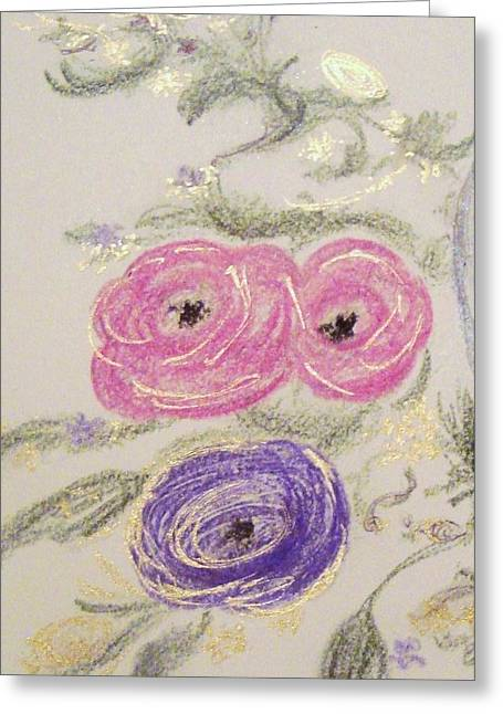 Tendrils Pastels Greeting Cards - Gilded Ranunculus  Greeting Card by Christine Corretti