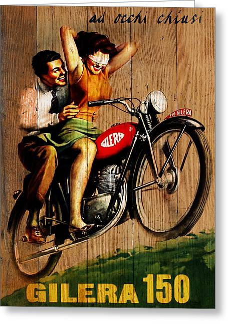 Transporation Greeting Cards - Gilera 1949 Greeting Card by Mark Rogan